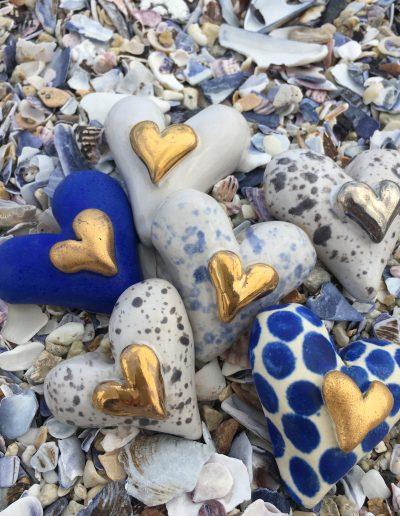 Inspirera Keramik - Hjärtan tavlor
