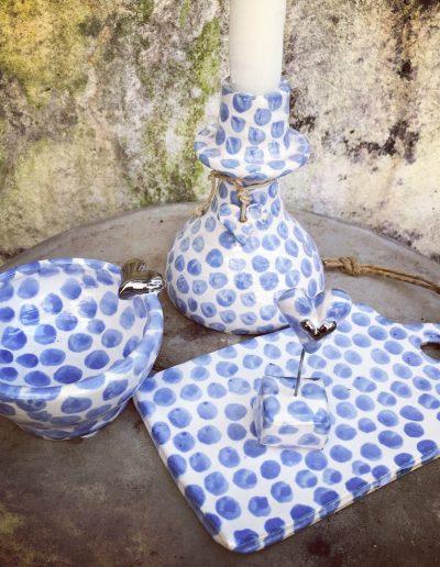 Inspirera Keramik - Keramik i blåprickigt