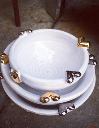 Inspirera Keramik - Hjärtan skålar