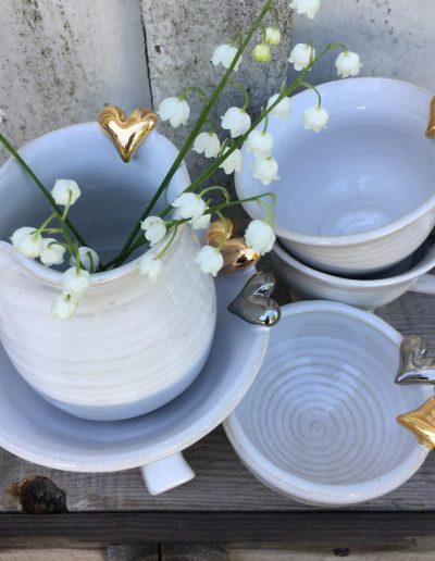 Inspirera Keramik - Hjärtan muggar och saltkar